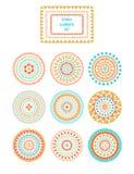 Vektordesignbeståndsdelar i indisk stil Stock Illustrationer