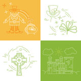 Vektordesignbeståndsdelar Irland Royaltyfri Fotografi