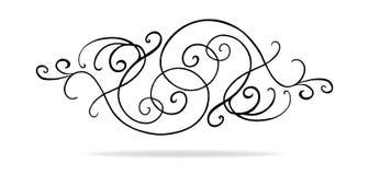 Vektordesignbeståndsdelar med infall krullar och virvlar runt stock illustrationer