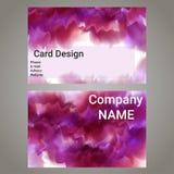 Vektordesignmall med färgpulver för rosa färgabstrakt begreppmoln Arkivbilder