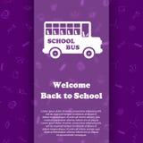 Vektordesignschablone für zurück zu Schule Lizenzfreie Stockfotos