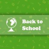 Vektordesignschablone für zurück zu Schule Lizenzfreies Stockbild