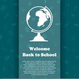 Vektordesignschablone für zurück zu Schule Lizenzfreies Stockfoto
