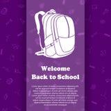 Vektordesignschablone für zurück zu Schule Stockbilder