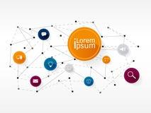 Vektordesignteknologi, nätverk, anslutningssymbol Royaltyfri Bild