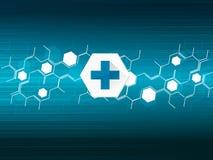Vektordesignteknologi, nätverk, medicinsk bakgrund Royaltyfria Bilder