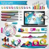 Vektordesignuppsättning av infographic beståndsdelar. Arkivfoto