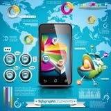 Vektordesignuppsättning av infographic beståndsdelar. Royaltyfria Bilder