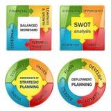Vektordiagramm des strategischen Managements stock abbildung
