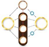 Vektordiagramm-Kreissystem Vektor Abbildung