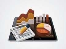 Vektordiagramm und Tabellenherausgeberikone Stockfotografie