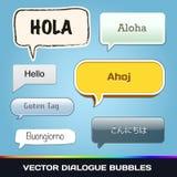 Vektordialogbubblor Arkivfoto