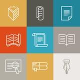 Vektordokument och papperstecken och symboler stock illustrationer