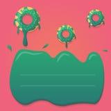 Vektordonutdesign in den tadellosen grünen und rosa Steigungsfarben Entwerfen Sie für den Gruß, Geburtstag, Einladungskarten, Men Lizenzfreie Stockfotografie