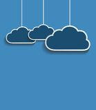 Vektordunkelheitswolken Lizenzfreies Stockbild