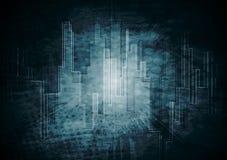Vektordunkler Technologiehintergrund Lizenzfreie Stockfotos