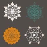 Einzigartige Entwurfssammlung der heiligen Geometrie lizenzfreie abbildung
