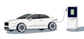 Vektorelbil stock illustrationer