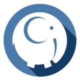 Vektorelefantsymbol Arkivfoton