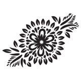 Vektorelement-Blumenmotive Mit Blumendekoratives Vektorlinie Kunstblume dekorativ lizenzfreie abbildung