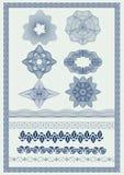 Vektorelement för valuta, certifikat eller diplom Arkivfoto