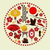 Vektorelemente der japanischen Kultur Lizenzfreies Stockbild