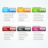 Vektorelemente für Web site Stockbilder