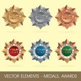 Vektorelemente - Medaillen, Preise lizenzfreie abbildung