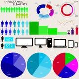 Vektorelemente von infographics Stock Abbildung