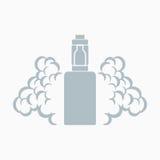 Vektoremblem av den elektroniska cigaretten Royaltyfri Fotografi