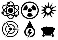 Vektorenergisymboler Arkivbild