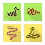 Vektorentwurf der Haut- und Reptilikone Sammlung Haut und Gefahrenvektorikone f?r Vorrat vektor abbildung