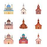Vektorentwurf der Religion und des Gebäudelogos Stellen Sie von der Religions- und Glaubenvektorikone für Vorrat ein stock abbildung