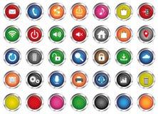 Vektorer för dator- och smartphone-, internet- och applikationsymboler, Arkivbild