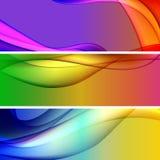 Vektorer - färgrika rengöringsdukbanerbakgrunder Arkivfoton