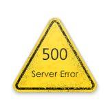 Vektorer gör sammandrag för anslutningsfelet för bakgrund 500 serveren Royaltyfria Foton