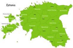 VektorEstland översikt Arkivfoto