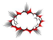Vektorexplosionmoln Arkivfoton