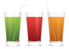 vektorexponeringsglas av fruktsaft Royaltyfri Bild