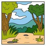Vektorfärgbakgrund, safari stock illustrationer