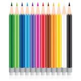 Vektorfärgblyertspenna Arkivbild