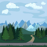 Vektorfärgillustration - naturligt landskap Arkivfoton