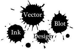 Vektorfärgpulverfläckar på en vit bakgrund vektor illustrationer