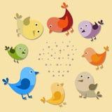 Vektorfåglar royaltyfri illustrationer