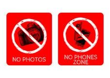 Vektorförbudtecken Fotografering för Bildbyråer