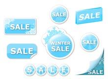 Vektorförsäljningen tags och etiketter Arkivfoto