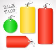 Vektorförsäljningsetiketter - olika former och färger (uppsättning 2) Royaltyfri Fotografi