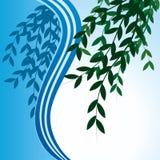 Vektorfahne mit Blättern. Lizenzfreie Stockbilder