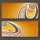 Vektorfahnen für Basketball Lizenzfreies Stockfoto