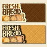 Vektorfahnen für Brot vektor abbildung